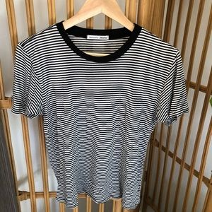 Reformation jeans striped T-shirt